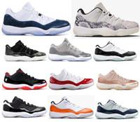 serin yeni basketbol ayakkabıları toptan satış-Yeni 11 Düşük Yılan Derisi Turuncu Trance Concord Serin Gri Barons Basketbol Ayakkabıları Erkek Kadın 11 s Georgetown Kızılötesi Gül Altın Sneakers Ile kutu