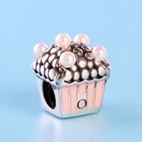 kleine silberne perlen großhandel-Klassisches Design 925 Sterling Silber Kleines Haus Charms Originalbox für Pandora Bead Charms für Schmuckzubehör