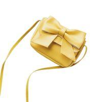 ingrosso trimmer per le ragazze-2019 Moda Portafoglio piccolo per bambini Ragazze Carino Bowknotl Borsa a tracolla in pelle Borsa Borsa a tracolla dolce dolce da donna