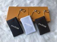 sıkıştırılmış torbalar toptan satış-Ücretsiz kargo! Özel 4 renkler Anahtar Kılıfı Zip Cüzdan Sikke Deri Cüzdan Kadın tasarımcı çanta 62650