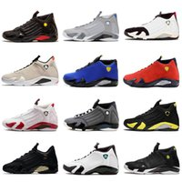 feaf8b6403b High Quality Jumpman 14 14s Black Toe Fusion Varsity Red Suede Thunder Men  Basketball Shoes Last Shot DMP Candy Cane Retro Size 40-47