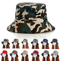 Wholesale men spring hats resale online - 12styles Camouflage bucket hat Men women summer Outdoor Travel Bonnet Sunscreen Mountain Climbing Hat fishing fisherman hat FFA2416