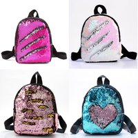 Wholesale purple backpack double shoulder bags for sale - Group buy Student Sequin School Bag Back To School Girl Solid Color Double Sided Sequins Zipper Mini Lady School Bag
