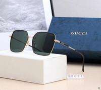 Wholesale vintage big square glasses resale online - Top Quality Big Mirror Lens Polit Luxury Sunglasses Carfia Sunglasses For Men Designer Sunglasses Vintage Metal Sport Sun Glasses NO Box