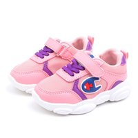 bebekler için düşmüş ayakkabılar toptan satış-Şampiyonu Bahar Güz Çocuklar Koşu Ayakkabı Patchwork Nefes Erkek Kız Koşucu Spor Ayakkabı Çocuk Tenis Ayakkabıları Bebek Sneakers C71805