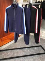 neue sportbekleidung großhandel-2018 neue männer luxus designer trainingsanzug ~ hit farbband dekoration trainingsanzüge sportbekleidung trainingsanzug ~ jogging schweiß trainingsanzüge für männer