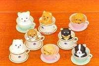 beste mini-telefone großhandel-2019 neue Ankunft 8pcs / lot 2-3CM mini nette kawaii ursprüngliche SchalentierhundHandy-Bügel-Action-Figur stellte beste Kinderspielwaren ein