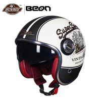 Wholesale vintage scooter for sale - Group buy BEON Motocross Helmet Men Motorcycle Helmet Vintage Moto Open Face Capacete Biker Retro Scooter Removable Inner
