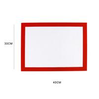 Wholesale mat art for sale - Group buy 30 CM Non stick silicone baking liner doughing baking mat sugar art sheet fondant mat