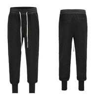 Wholesale god cloth for sale - Group buy Street Style Long Rope Low Crotch Fog Pants Terry Cloth Loose Feet Knickers Pocket Decoration Thread Trousers Fear Of God Pants