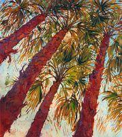 öl leinwand palmen großhandel-- in-the-Palms-ungerahmt moderne Leinwand Wandkunst für Heim und Büro Dekoration, Ölgemälde, Tierbilder, Rahmen.