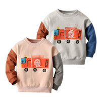 Wholesale baby cars outfit for sale - Group buy 1 Y Infant Kid Baby Girl Boy Sweatshirt Tops Winter Warm Sweater Cartoon Car Tops Outfits Clothes