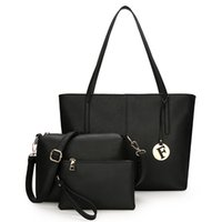 Wholesale skull chain piece resale online - 2018 Europe and the United States new fashion sub package three piece simple large capacity shoulder bag handbag female