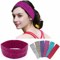 Wholesale sexy hair band girl for sale - Group buy sexy ladies leopard headband hot fashion sports women girls hair bands elastic cotton absorb sweat band fitness gym workout hairbands