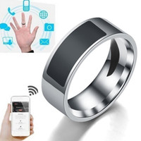anillos nfc al por mayor-Anillos inteligentes Impermeable Moda digital Control inteligente de accesorios Dedo inteligente NFC Anillo inteligente Mujeres Hombres