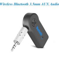 mp3 адаптер для стерео оптовых-Беспроводная связь Bluetooth 3.5 мм AUX потокового аудио автомобиля A2DP Беспроводной музыкальный приемник адаптер с микрофоном atp040