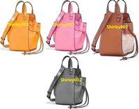 ingrosso pelle di amaca-Popular Design 2019. Borse da amaca CLASSIC, mini borsa cross-body in vera pelle di alta qualità. Borsa adorabile, borsa della frizione. Borsa Candy Color.