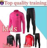 Wholesale new tracksuit children resale online - New kids Psg tracksuit psg soccer jogging jacket MBAPPE POGBA Ajax child football training suit