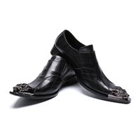 Wholesale double buckle shoes mens for sale - Group buy Mens Fashion Double buckle Party Shoes Slip On Comfort Geniune Leather pointet toe Formal Dress I toe oxford