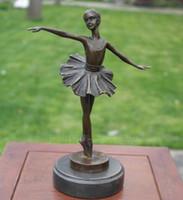 ingrosso decorazione da ballo della camera da letto-Balletto musica danza scultura in rame artigianato decorazioni per la casa decorazioni regali Shanghai bronzo mondo dell'arte