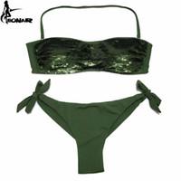 3e2807ef67 EONAR Bikini 2019 Sewn Sequin Women Swimwear Brazilian Cut Bottom Bikini  Set Low Waist Swimsuit Bathing Suits Summer Beach Wear