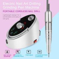 máquina de moler al por mayor-65W 35000 RPM Electric Nail Art Drilling Grinding Pen Machine Set Herramientas de pedicura manicura con interruptor de pie Nail Drill Machine ac