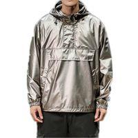 Wholesale clothes hook sizes for sale - Group buy Reflective Jacket Men Streetwear Bomber Jacket Mens Hip Hop Jackets Fashion Hooded Coats Male Baseball Jackets Clothes Size M XL