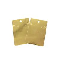 jóias pendurado cartões de exibição venda por atacado-New Chegou 50 pcs por lote de Luxo Cartões de Brinco de Papel De Ouro Pendurar Tags 6x9 cm Jóias Ear Stud Brinco Colar Embalagem Display Cards