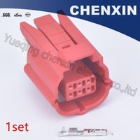 Wholesale pin waterproof electrical wire connector resale online - Red pin female waterproof auto connectors car electrical wiring case adapter connector