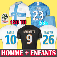Wholesale 19 Olympique De Marseille soccer jersey OM jerseys maillot de foot PAYET THAUVIN BENEDETTO football shirt men kids years