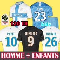 camisetas de fútbol de marsella al por mayor-19 20 Soccer Jersey Olympique de Marseille camiseta de fútbol  OM 2019 2020 camiseta de fútbol PAYET THAUVIN BENEDETTO camiseta de fútbol hombres + niños 120 años