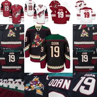 19 Shane Doan Jersey Arizona Coyotes Hockey Jerseys Black Red White Stitched eb3453122