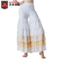 zebra harem hose großhandel-Bauchtanz Gypsy Tiered Ruffle Pants Yoga Harem Hose Flamenco Hose Bollywood Dancing Tribal Pantalon Kostüm
