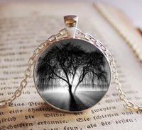 ingrosso 925 collana solare-2018 New Tree of Life Collana con ciondolo in vetro Tree of Life Ciondolo regalo Sole splendente Collana in argento con foto