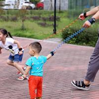 çocuklar bebek koşum takımı toptan satış-1.5m Ayarlanabilir Çocuk Çocuk Emniyet Bebek Kemer Harness Askı Halat Tasması için Güvenli Bilek Bağlantı Bant Bilezik Bileklik Anti-kayıp