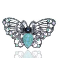 Wholesale vintage lucite brooch pin for sale - Group buy Butterfly Brooch designer Brooches Multi Color Rhinestone Crystal Pins Vintage Fashion Women Wedding Bridal Garments Clothes Pins