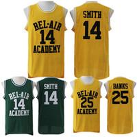 доставка нового трикотажа оптовых-Штат Нью-Джерси Carlton Banks baloncesto Баскетбол Джерси Свежий Принц Уилл Смит # 14 Bel Air Jersey танец cosido бесплатная доставка