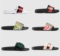 ingrosso sandali di stampa serpente-Top uomo donna sandali scarpe di design pantofole stampa serpente di lusso scivolo moda estate ampia sandali piatti pantofola con scatola sacchetto di polvere 35-46