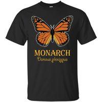 mariposa de las mujeres tshirt al por mayor-Monarch Butterfly T-Shirt - Color Set 2 Negro, camiseta azul marino S-4XLMen Mujer Unisex camiseta de moda Envío Gratis