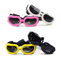 Wholesale dog sunglasses goggles online - Doggy Goggle Protection Fashion Small Dog Sunglasses Cat Puppy Pet Accessories Glasses Little Dog Eyewear Eyeglass LJJP201