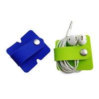 handy zubehör silikon großhandel-Silikon-Earbuds-Wickelwickler Tangle-Free-Ohrhörer-Kabel-Organisator-Kopfhörer-Kopfhörer-Halter-Kabelaufwicklung mit Hasp-Handy-Zubehör
