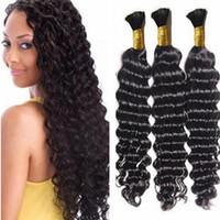 Wholesale european wave braiding hair for sale - Group buy cheap bulk hair deep wave hair bulk hot brazilian wave bulk human hair for braiding black women