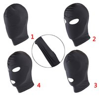 Unisex Men Women Mask Padded Blindfold Headgear Mouth Eye Open Facemask Costume
