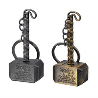 Wholesale anime avengers for sale - The Avengers Thor hammer key chain bell couple Keychain Car Key Holder Acrylic Bell Anime Key Chain Bag Pendant Bts Accessories Girl Gift