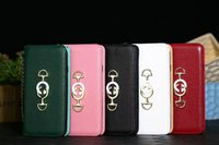 металлические флип-чехлы оптовых-Новый бренд дизайн металлический логотип флип-кошелек телефон чехол для iphone Xs Xr X 7 7 плюс 8 8 плюс 6 6 плюс