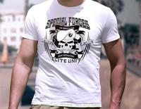 pamuklu özel toptan satış-Özel Kuvvetler Elit Ünitesi T-shirt 100% Icf Erkekler Yetişkin T Shirt Kısa Kollu Pamuk Bağlanmıştır