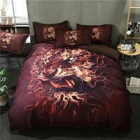 ropa de cama completa del león de la reina al por mayor-Juego de cama de león 3D Funda nórdica con fundas de almohada Juego de cama 3pcs Twin Full Queen King Size