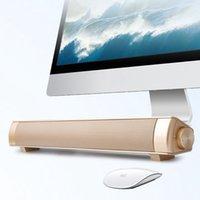 altavoz bluetooth venda por atacado-Novo Poderoso Bluetooth Speaker Sound Soundbar Versão Atualizada S08 Caixa de Som Mini Altavoz USB Speaker Para Computador Tablet PC