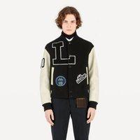 ingrosso giacche da strada per gli uomini-19SS lettera applique giacca da baseball con pannelli sportivi comode giacche uomo donna casual pulsante strada cappotto moda outwear HFHLJK015