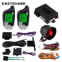 Wholesale display pager for sale - Group buy EASYGUARD Way Car Alarm System remote auto Start LCD Pager Display vibration alarm universal DC12V microwave sensor warn
